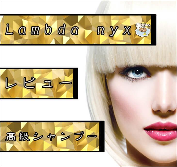 【Lambda nyx/ラムダニクス】有名芸能人も愛用する高級シャンプーの口コミ的レビュー